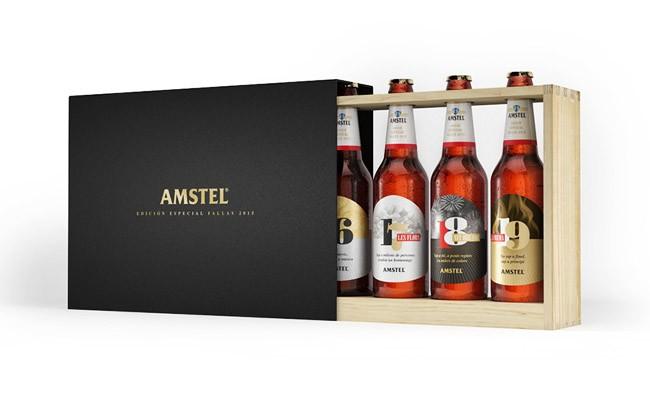 国外Amstel啤酒礼盒装精美包装设计