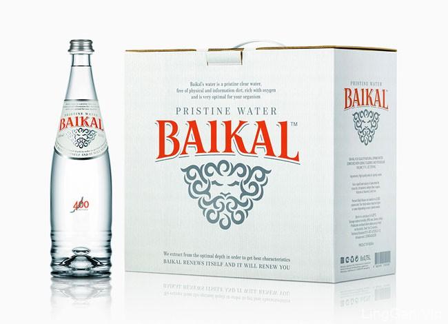 国外清新亮丽的Baikal优质纯净水包装设计作品