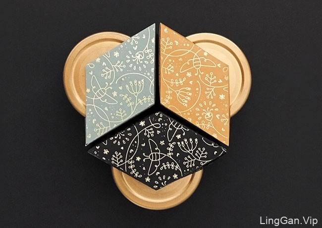 国外Nahla有机蜂蜜精美包装设计作品