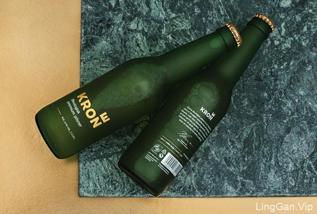 国外简约精致的Krone啤酒包装设计作品
