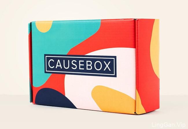 国外年轻活力的Causebox女性产品包装盒设计作品