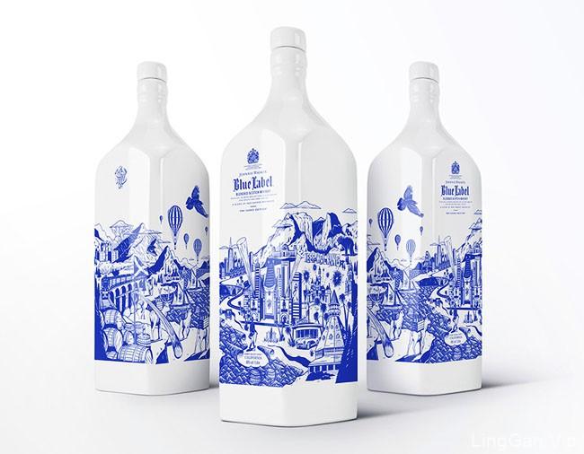 国外California威士忌陶瓷瓶限量版包装设计作品