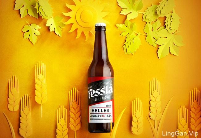 国外漂亮的Fessla啤酒瓶贴设计展示