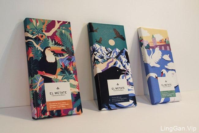 墨西哥风味的El Metate巧克力包装设计作品