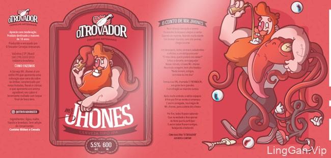国外OTrovador手工啤酒瓶贴设计作品