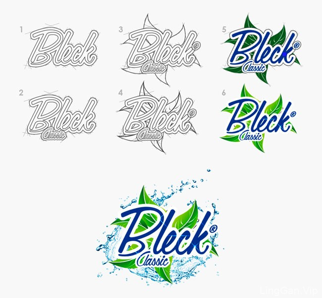 Bleck沐浴产品系列包装设计作品