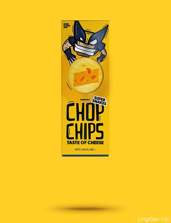 Chop Chips薯片金刚狼系列创意包装设计