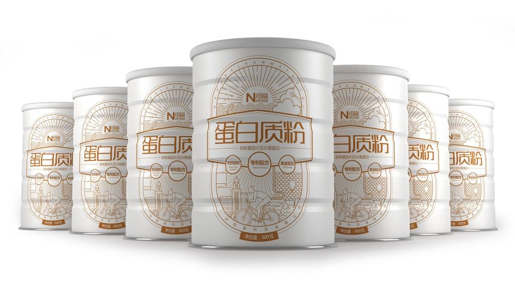 蛋白质粉包装设计 营养品包装设计 蛋白质粉罐装包装设计