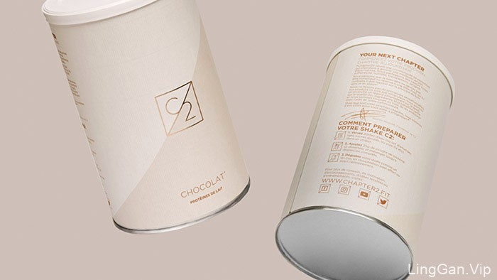 精美的C2蛋白粉极简包装作品