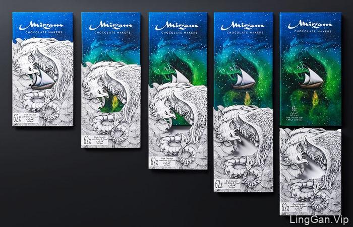 神话色彩的Mirzam巧克力包装设计NO.1