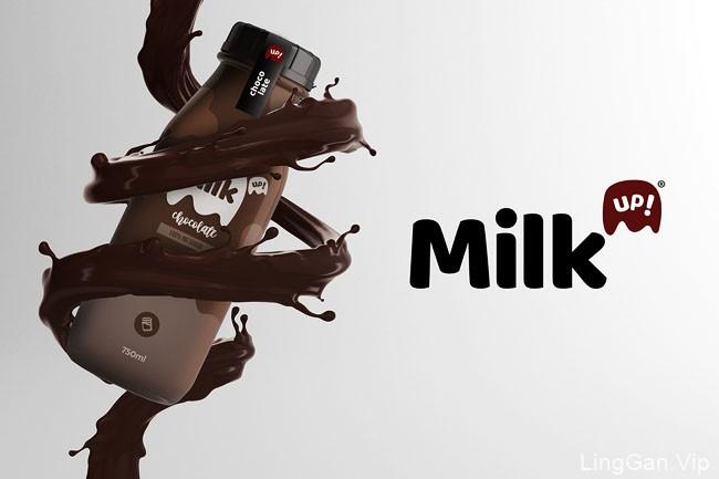 国外MilkUp!牛奶品牌包装设计作品