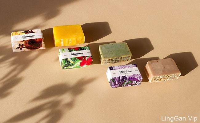 漂亮的Divinus手工肥皂包装设计