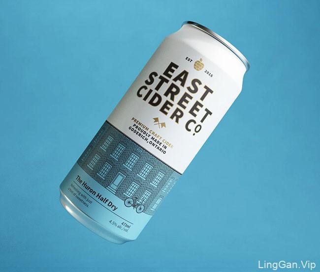East Street Cider苹果酒包装设计