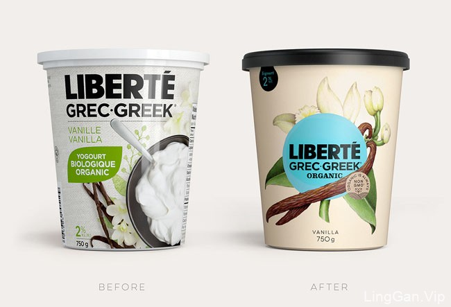 LIBERTE有机酸奶包装设计重塑