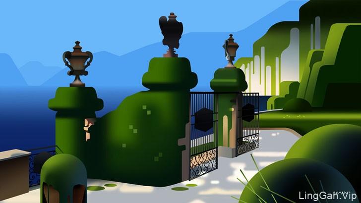 Romain Trystram庭院主题插画设计