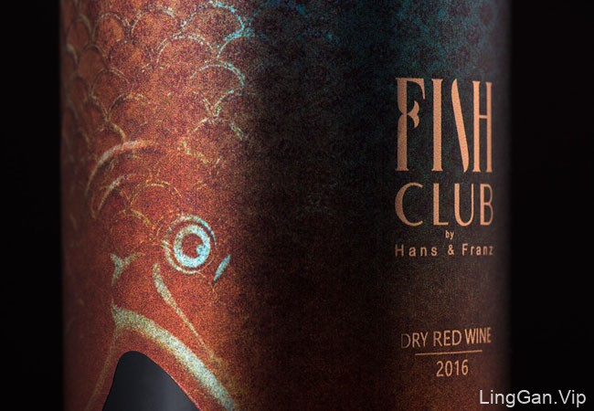 Fish Club Wine葡萄酒创意包装设计