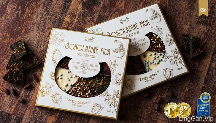 精美的Ruta巧克力比萨包装设计