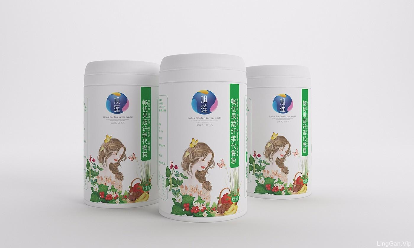 湖南旭莲五谷膳食唯美包装设计