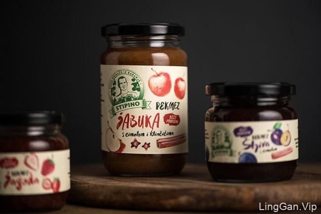 Stipino果酱等农产品制品包装设计