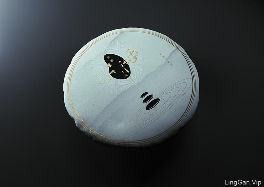 五马芙 新中式禅意千两茶茶饼黑茶包装设计