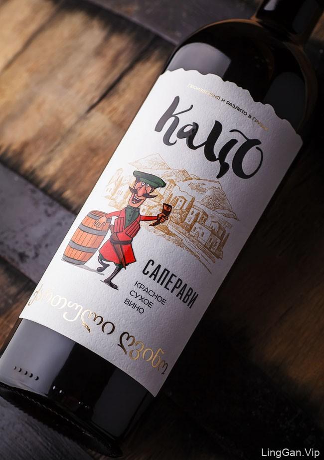 格鲁吉亚Katso葡萄酒瓶贴设计作品