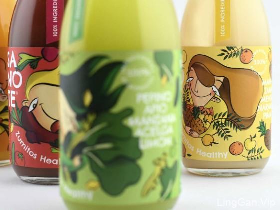 Sanote Zumitos Healthy果汁包装设计