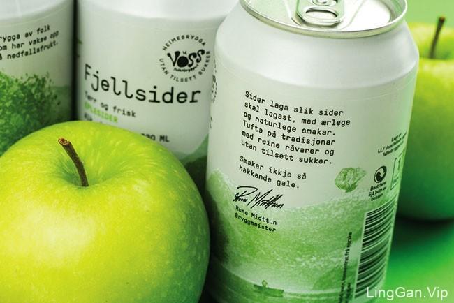 Voss Fjellsider天然苹果酒包装设计