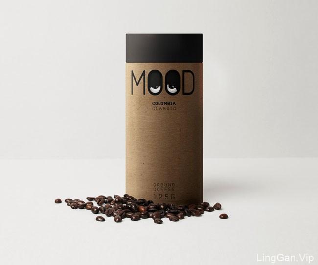 自带心情表情包的MOOD咖啡创意包装设计