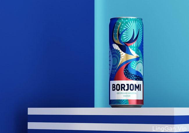 Borjomi矿泉水新年限量版包装设计欣赏