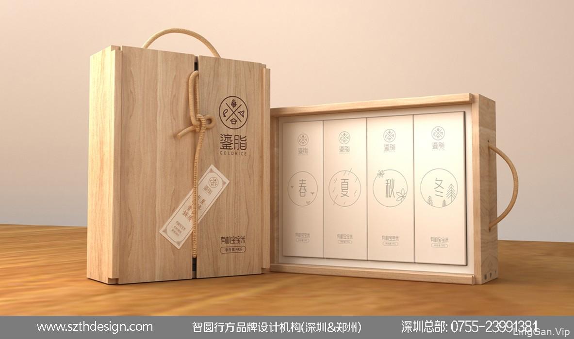 大米木盒包装设计 五谷杂粮包装设计 农产品包装设计