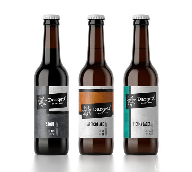 Dargett工艺啤酒系列瓶贴设计