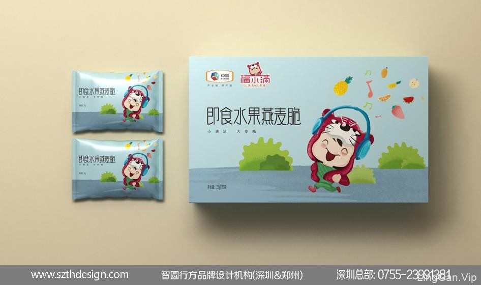 中粮福小满包装 休闲食品包装设计 即食水果燕麦脆包装