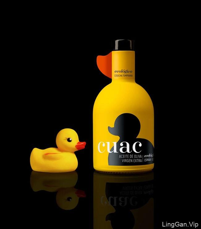 小黄鸭版CUAC AOVE橄榄油包装设计欣赏