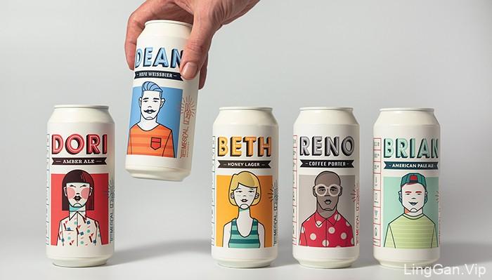 奥克兰Temescal 啤酒包装设计