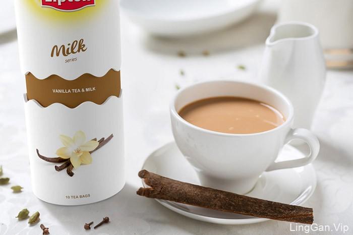 俄罗斯LIPTON奶茶包装设计