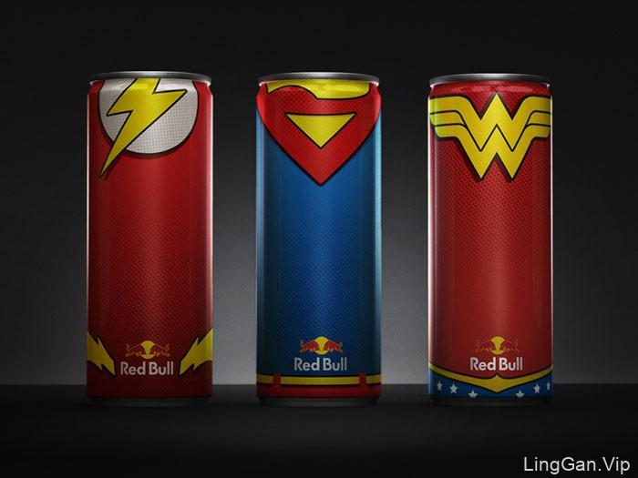 美国红牛能量饮料包装设计