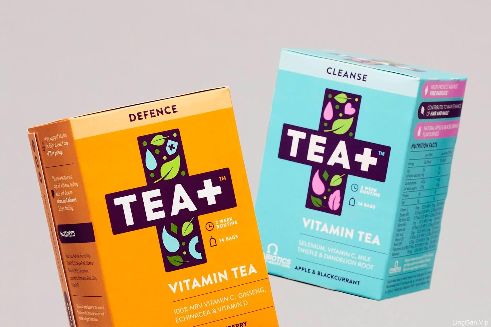 TEA+维它命茶包装设计