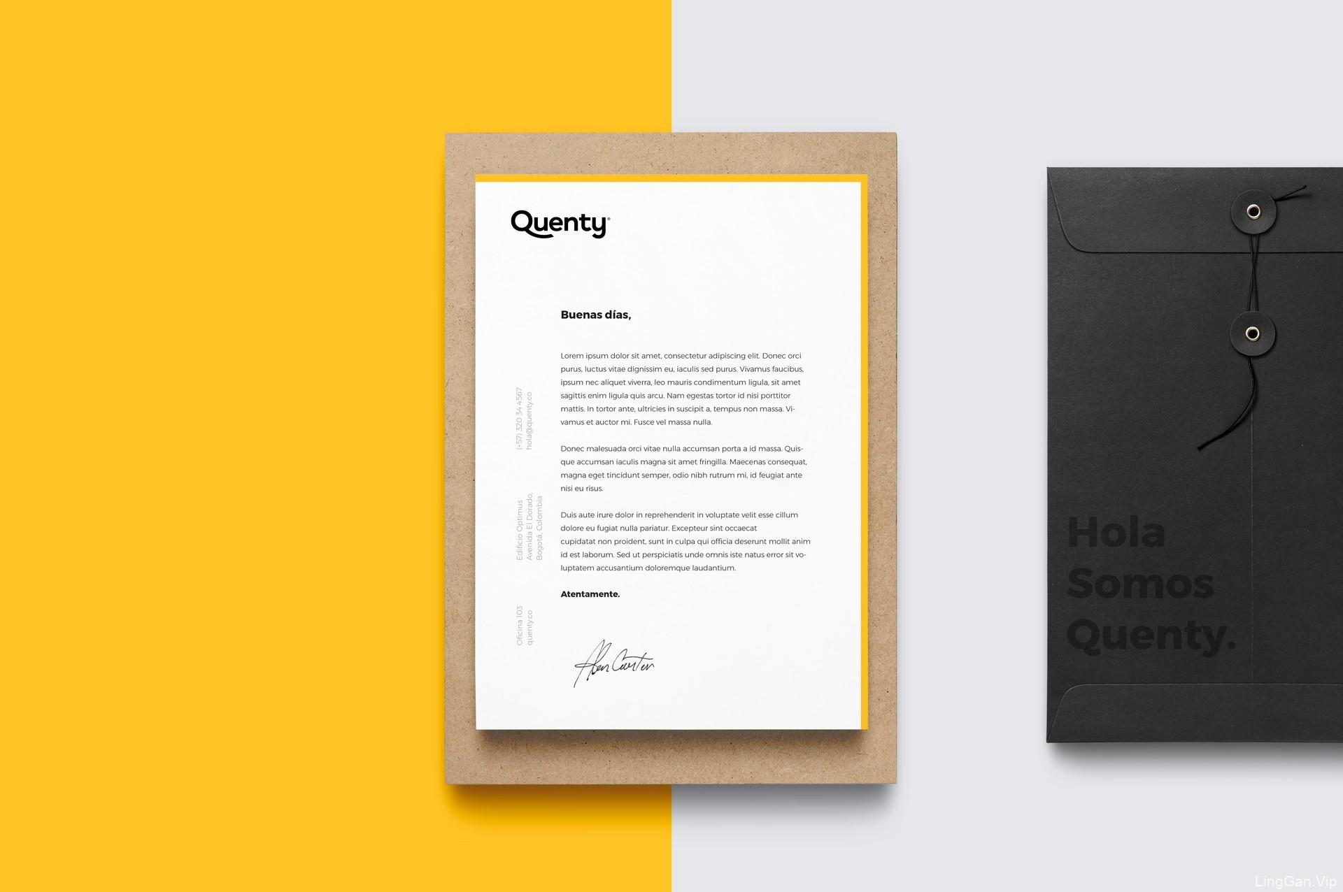营销咨询公司Quenty品牌形象设计