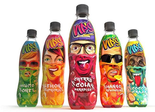 个性搞怪的VIP''S汽水饮料包装作品