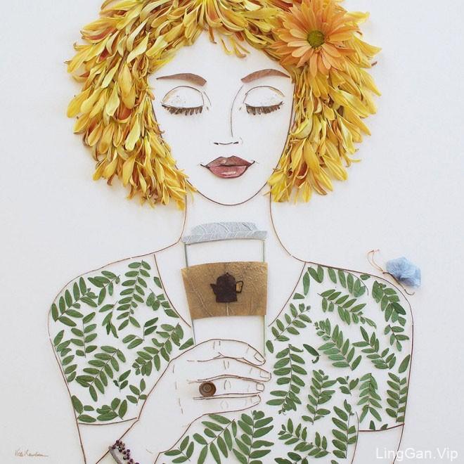 15幅花卉艺术创意插画设计作品