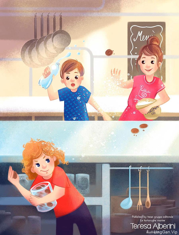 纯净感!8款彩铅儿童插画灵感