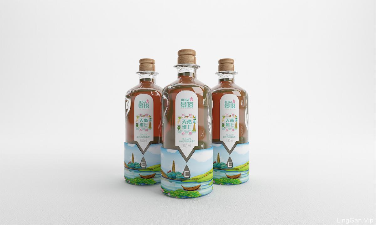 景塔天然维E小磨香油——徐桂亮品牌设计