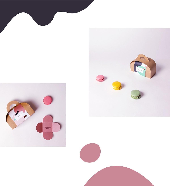 艺术色彩!马卡龙甜品包装设计