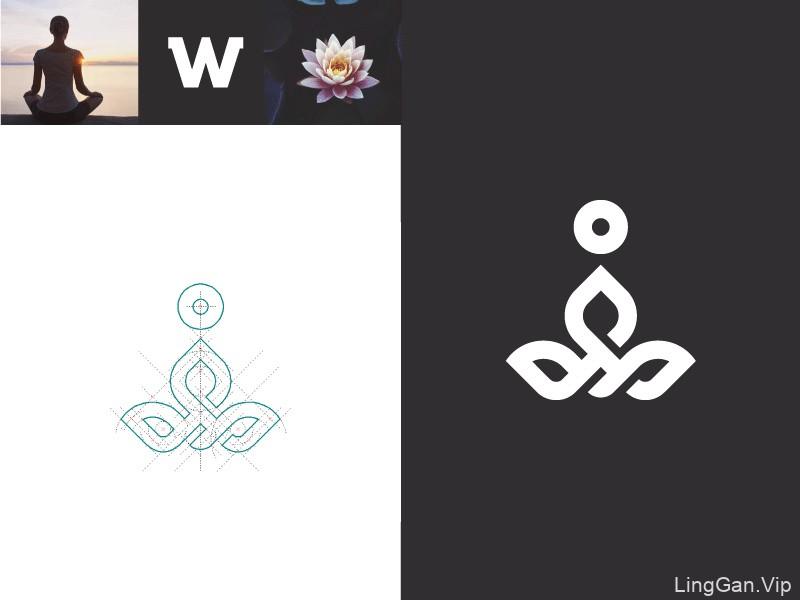 出水芙蓉!20款荷花元素Logo设计