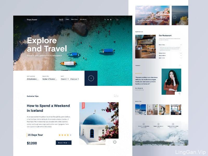 踏上美好旅程!12组旅行界面设计灵感