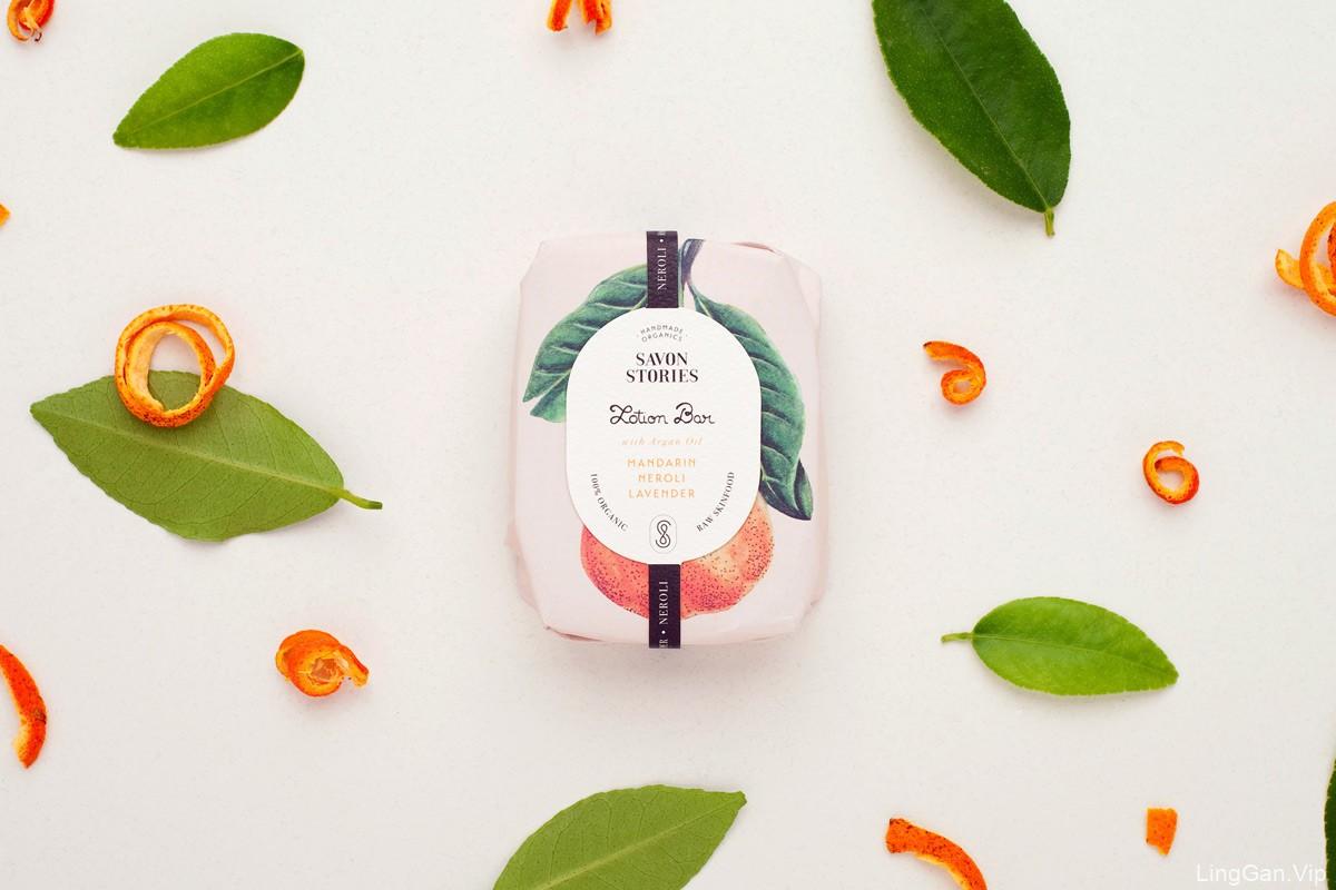 手绘植物!护肤品包装设计
