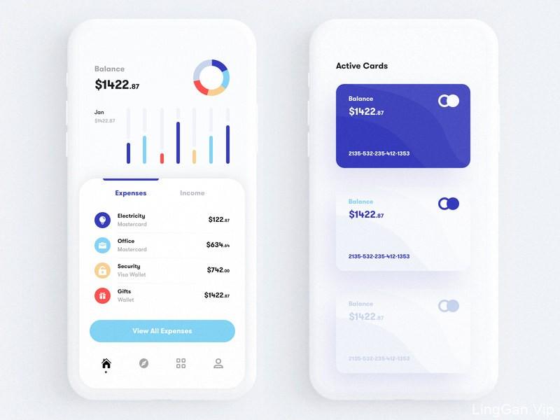 掌上银行get!12组银行app界面设计灵感
