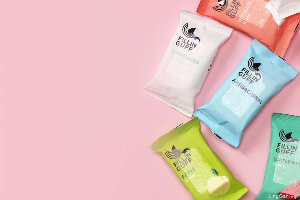 亮丽色彩!湿巾包装设计