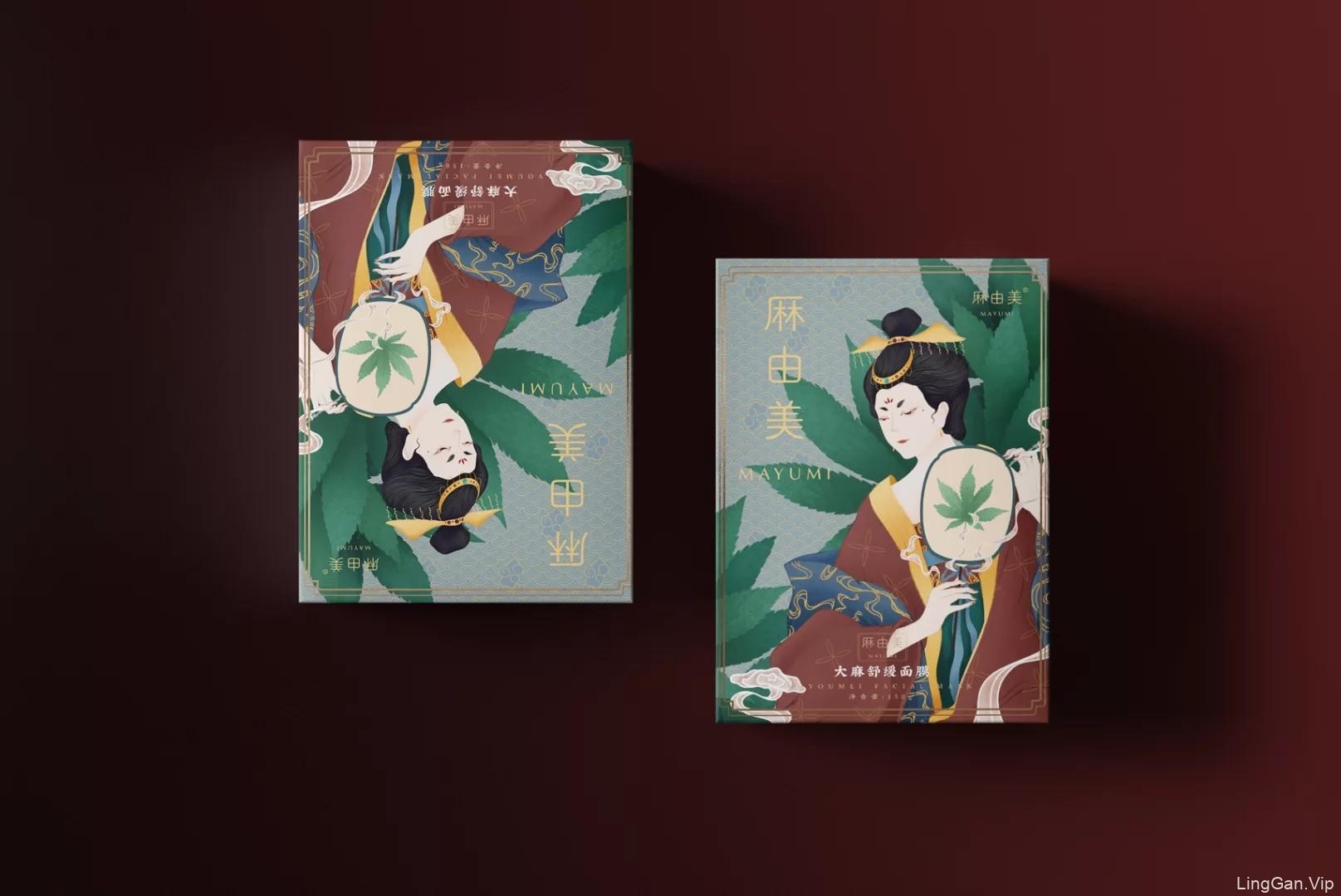 中国风面膜插画设计