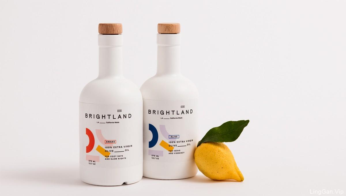 简单缤纷!橄榄油瓶包装设计